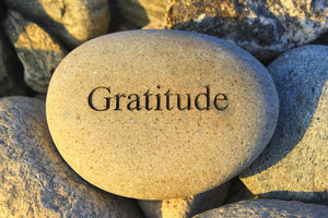 Rock with the word Gratitude