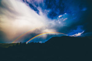 Image of sky, clouds and rainbows;