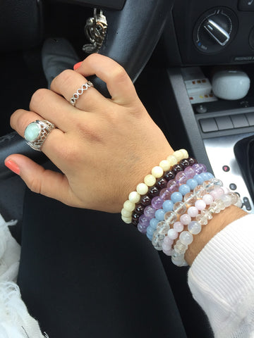 Individual Power Bracelets on wrist