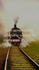Train on Tracks with Success Quote