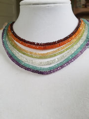 Faceted Gemstone Bead Necklaces