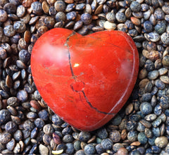 Genuine Stone Hearts (Red Jasper shown)