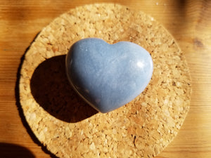 angelite Heart stones