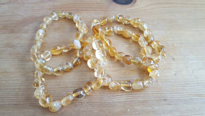Genuine Citrine Bead Bracelet