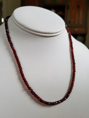 Savor the Flavor Garnet Necklace