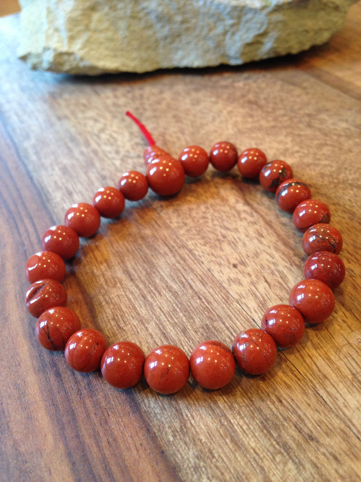 Genuine Red Jasper Power Bracelet