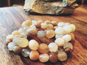 Genuine Moonstone Power Bracelet