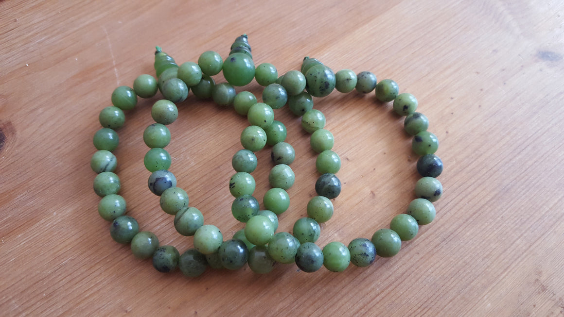 Three Nephrite Jade Power Bracelets