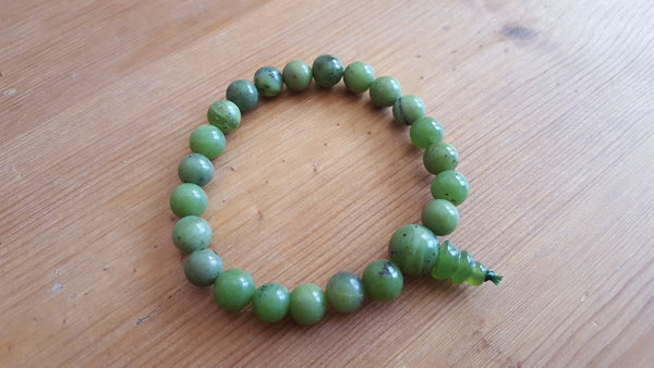Single Genuine Nephrite Jade Power Bracelet