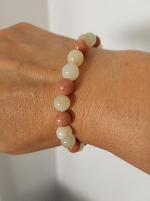 Moonstone Power Bracelet tans, browns creams