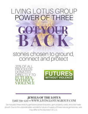 Power of Three Bracelet Set: Got Your Back/ Futures Without Violence