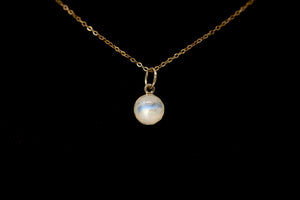 Moonstone Necklace on black background