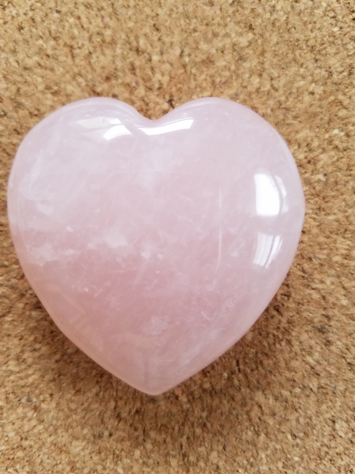 Rose Quartz Heart Stone