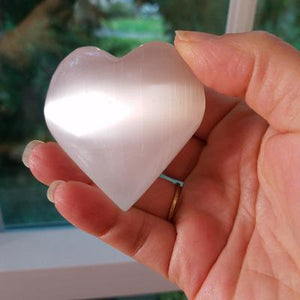 Selenite Heart Stone