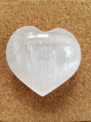 Genuine Selenite Heart
