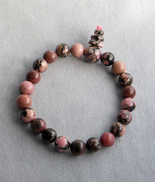 Genuine Rhodonite Bracelet