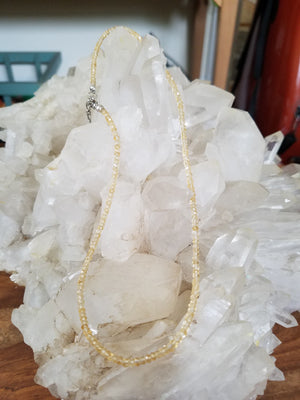 Citrine Faceted Bead Necklace