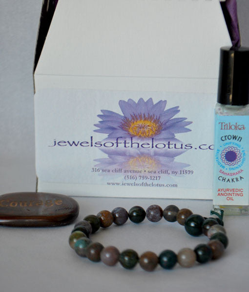 Gems of Wisdom Kit- Courage (Power Bracelet, oil, word stone)
