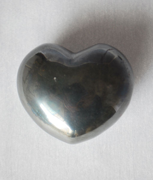 Genuine Hematite Heart Stone