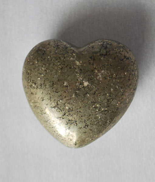 Genuine Pyrite Heart Stone