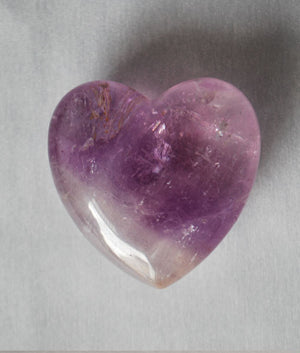 Genuine Amethyst Heart Stone