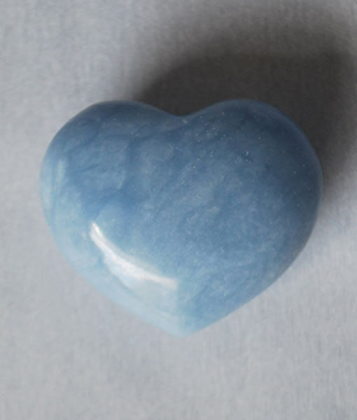 Genuine Angelite Heart Stone