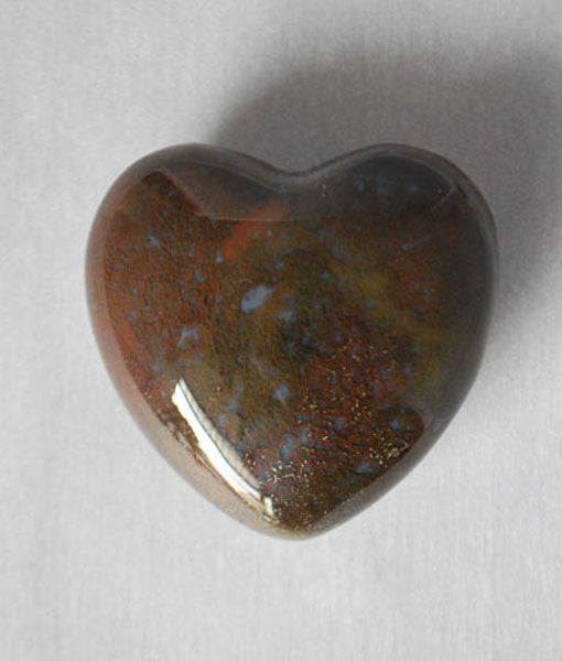 Genuine Bloodstone Heart Stone