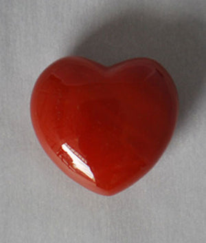 Genuine Carnelian Heart Stone