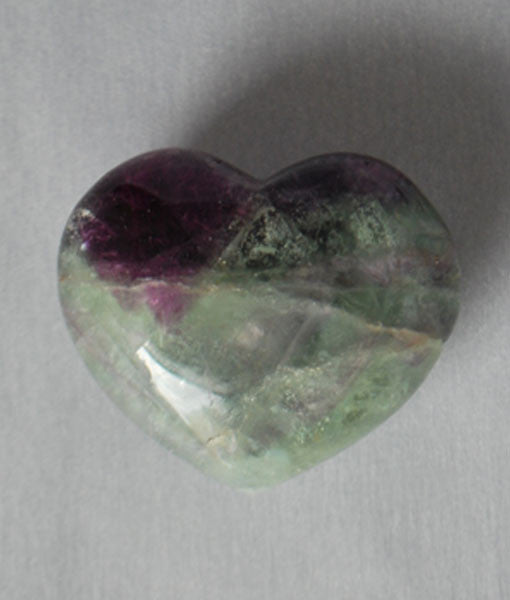 Genuine Fluorite Crystal Heart Stone