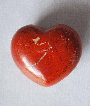 Genuine Red Jasper Heart Stone