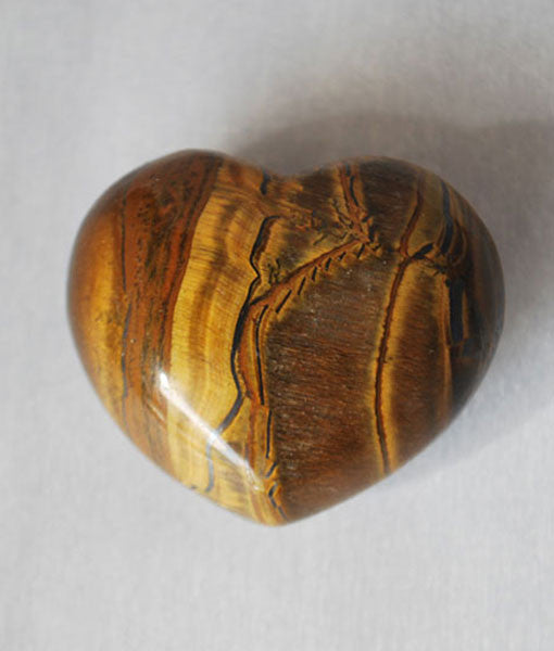 Genuine Tiger Eye Heart Stone