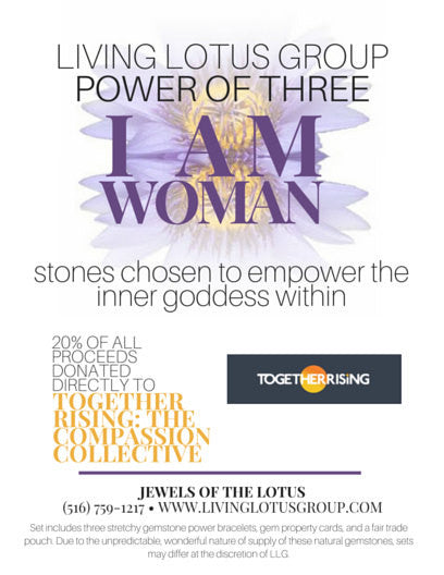Power of Three Bracelet Set: I AM WOMAN - The Compassion Collective