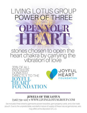 Power of Three Bracelet Set: Open Your Heart- Joyful Heart Foundation