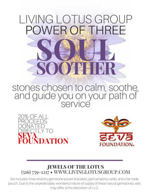 Power of Three Bracelet Set: Soul Soother/ Donation to Seva Foundation