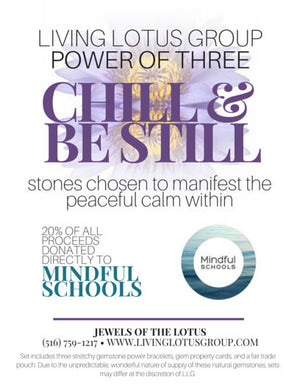 Power of Three Bracelet Set: Chill and Be Still/ Mindful Schools