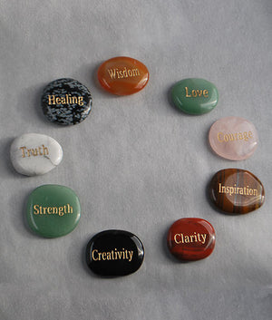 Words of Wisdom- Polished Stones