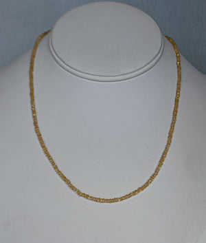 Genuine Citrine Faceted Bead Necklace