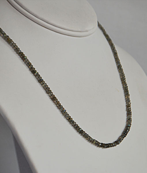 Genuine Labradorite Faceted Bead Necklace
