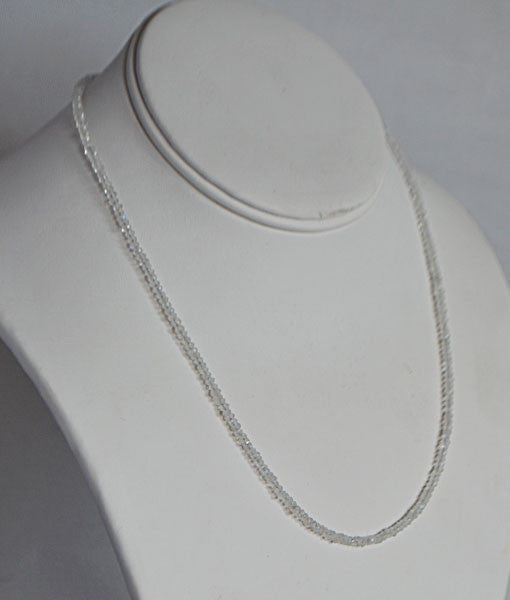 Genuine Moonstone Faceted Bead Necklace