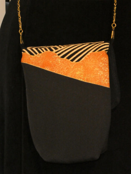black and gold small bag