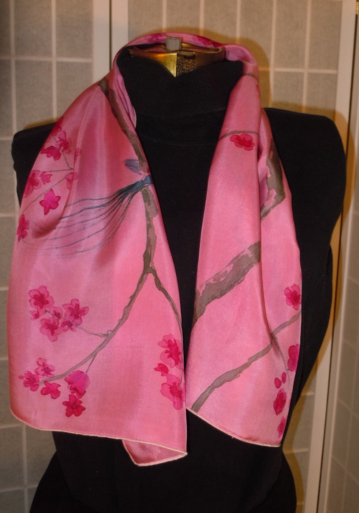 a9c1355d650 Hand painted silk scarf ;