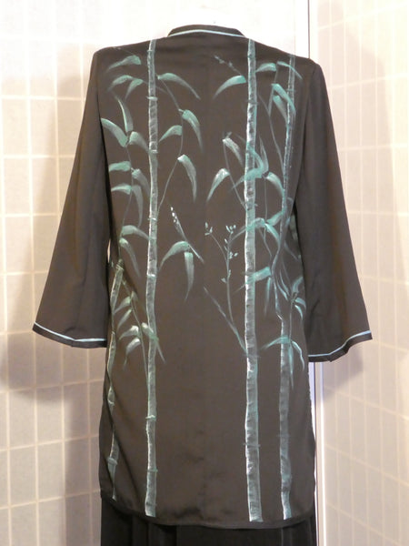 bamboo painting jacket black