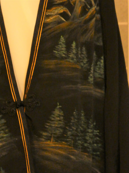 black silk duster art to wear