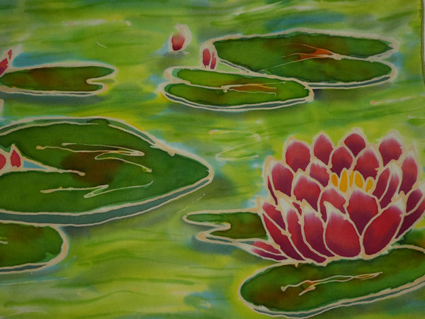 silk painting waterlilies