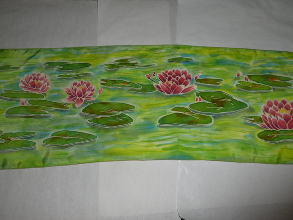 silk scarf pond