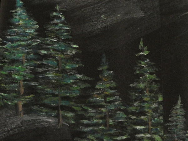 Pine forest painting silk