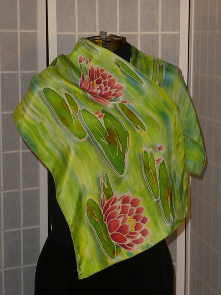silk scarf waterlilies