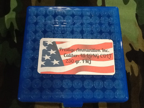45 Long Colt FMJ 230 GRAIN REMANUFACTURED AMMUNITION 100 ROUNDS