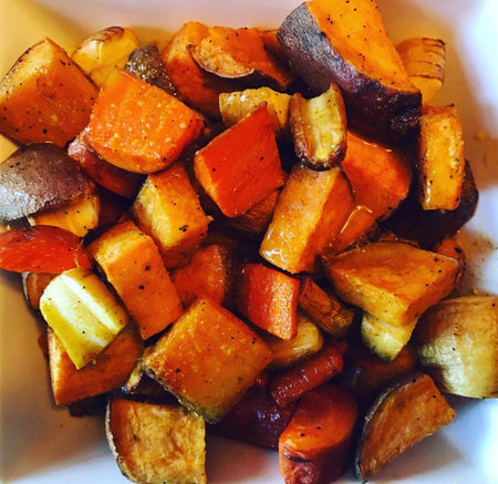 Thanksgiving Maple Dijon Veggie Roast