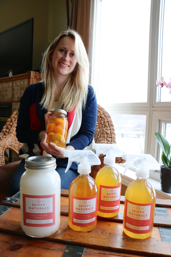Cleaning your house with left over fruit?  Meet Shelby Cook and Spiffy Naturals!